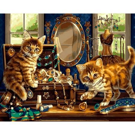Картина по номерам Шкатулка с драгоценностями VP462, Babylon