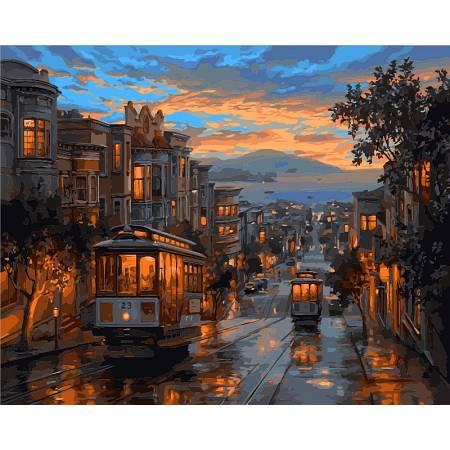 Картина по номерам «Вечерний город», модель VP487
