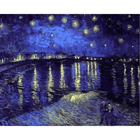 Картина по номерам «Звездная ночь над Роной худВан Гог Винсент», модель VP503