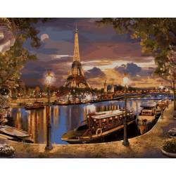 ПарижВечерний пейзаж