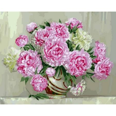 Картина по номерам Розовые пионы VP573, Babylon