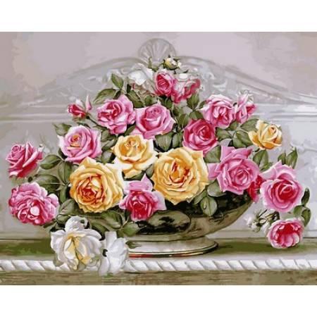 Картина по номерам «Картина по цифрам - Роскошные розы», модель VP576