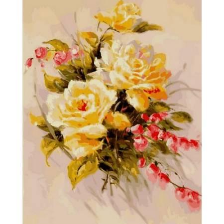 Картина по номерам Желтые розы VP589, Babylon