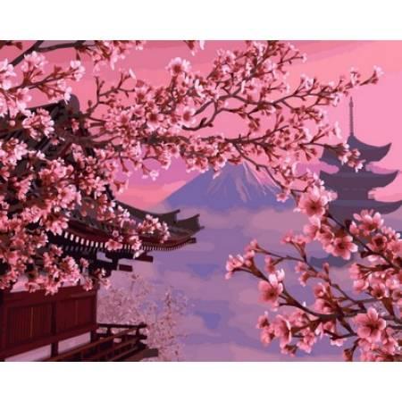 Картина по номерам «Картина для рисования - Японский пейзаж», модель VP595