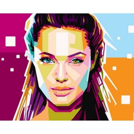Картина по номерам Анжелина Джоли VP608, Babylon
