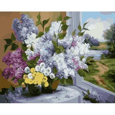 Картина по номерам Свежий букет сирени AS0015, ArtStory