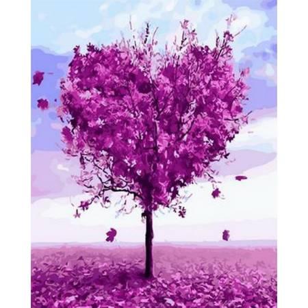 Дерево любви, цветной холст