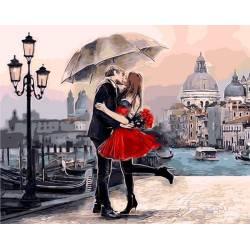 Прекрасное свидание, цветной холст