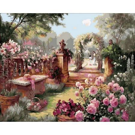 Прекрасный сад, цветной холст