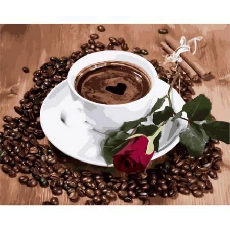 Картина по номерам «Кофейная композиция Babylon Premium (цветной холст)», модель NB2096
