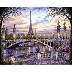 Прекрасный Париж, цветной холст