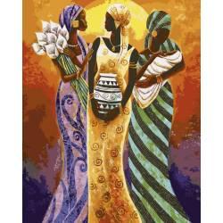 Африканские мотивы, цветной холст