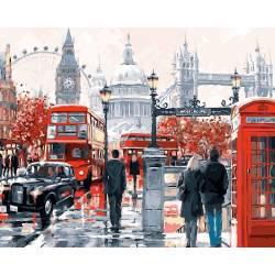 Очарование Лондона, цветной холст