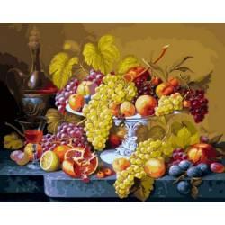 Роскошный виноград, цветной холст