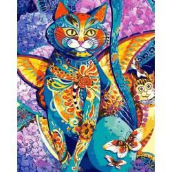 Чеширский кот, цветной холст