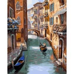 Каналы Венеции, цветной холст
