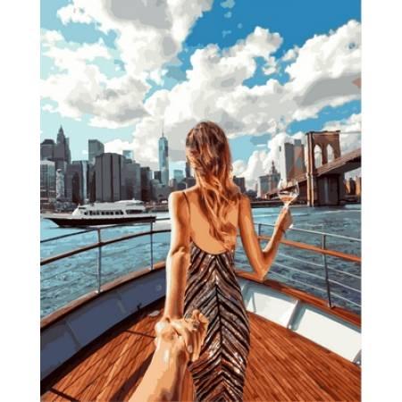 Картина по номерам «Следуй за мной Нью-Йорк Babylon Premium (цветной холст)», модель NB714