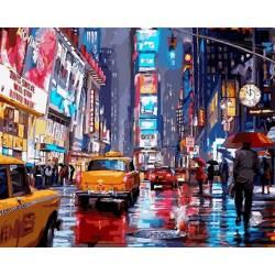 Огни Нью-Йорка, цветной холст