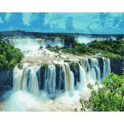 Водопады Игуасу Бразилия, цветной холст