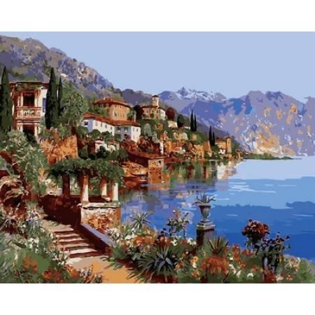 Картина по номерам Теплое море Италии Q2142, Mariposa