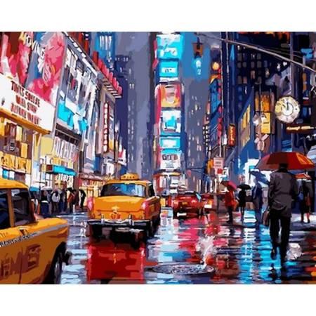 Картина по номерам «Огни Нью - Йорка», модель VP762