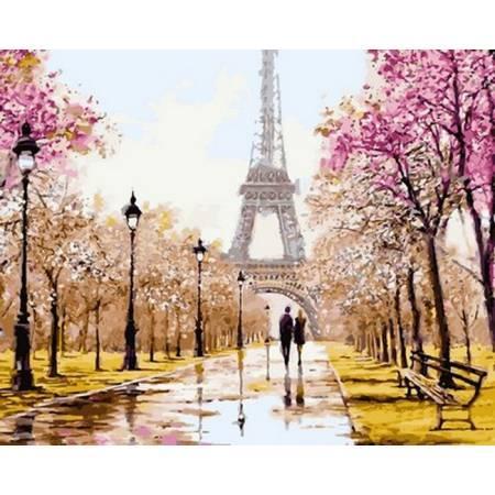 Картина по номерам «Ранняя весна. Париж», модель VP768