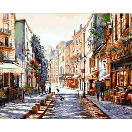 Картина по номерам «Утро. Париж», модель VP776