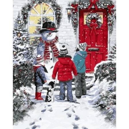 Рождественский снеговик