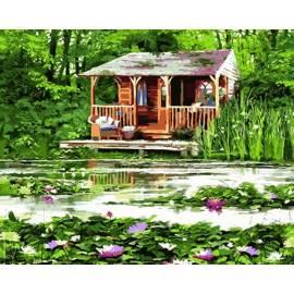 Старый домик у пруда