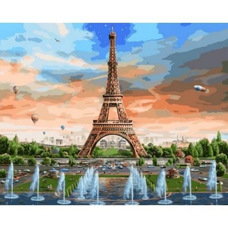 Картина по номерам «Радуга над Парижем», модель VP821