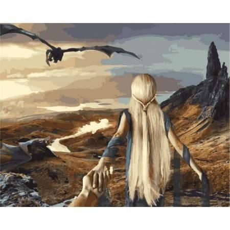 Картина по номерам Следуй за мной Игра престолов,, цветной холст NB837, Babylon Premium