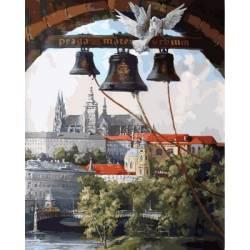 Колокола Праги, цветной холст