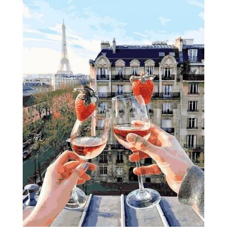 Картина по номерам Шампанское и клубника Q2222, Mariposa