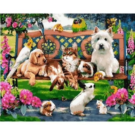 Картина по номерам Домашние животные в парке Q2227, Mariposa