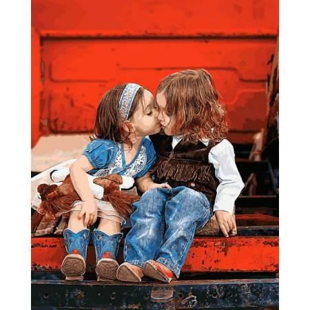 Картина по номерам Первый поцелуй Q2229, Mariposa