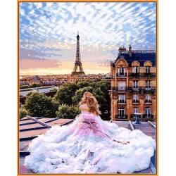 Парижские мечты, цветной холст