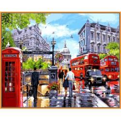 Весна в Лондоне, цветной холст