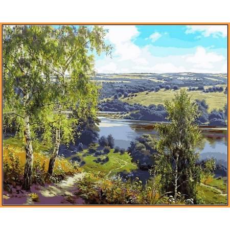 Картина по номерам Дорога к реке NB959, Babylon Premium