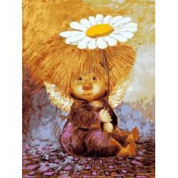 Солнечный ангел с ромашкой