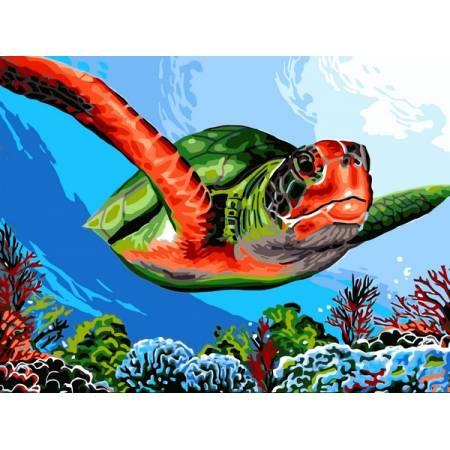 Картина по номерам Зеленая черепаха VK236, Babylon