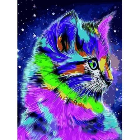 Картина по номерам Радужный котенок VK239, Babylon