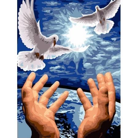 Картина по номерам Пара голубей VK246, Babylon