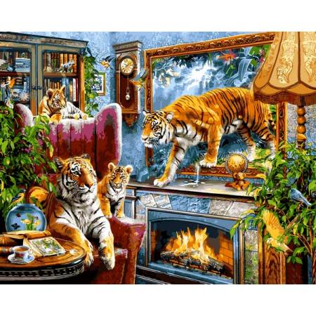 Картина по номерам Тигры VP1244, Babylon