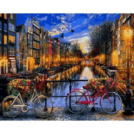 Картина по номерам Вечерний Амстердам VPS1148, Babylon