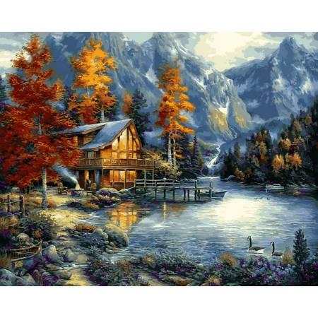 Картина по номерам Осеннее озеро VPS1151, Babylon