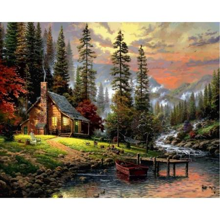 Картина по номерам Дом охотничьей VPS1261, Babylon