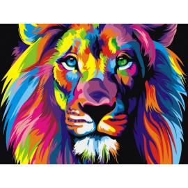 Разноцветный лев