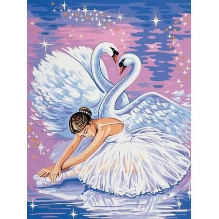 Картина по номерам Танец лебедей и балерины VK007, Babylon
