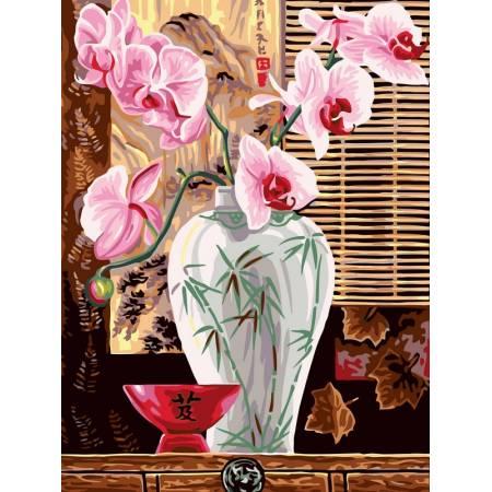 Картина по номерам Орхидеи в вазе VK011, Babylon