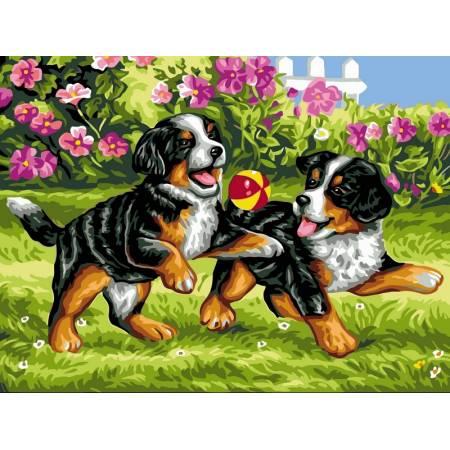 Картина по номерам Игривые щенки VK107, Babylon